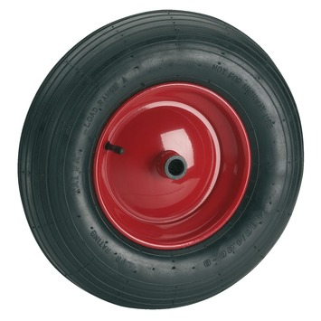 Luchtband met velg 400 mm as 20 mm maximaal 250 kg