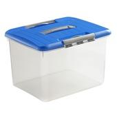 Optima opbergdoos curver met deksel blauw 30 liter