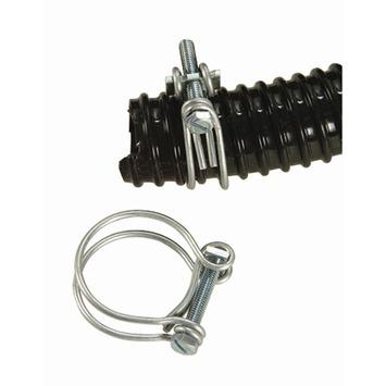Ubbink slangklem gegalvaniseerd metaal zilvergrijs 10,5 - 12 mm 2 stuks