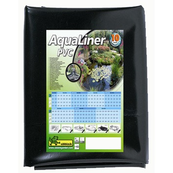 Ubbink vijverfolie aqualiner PVC zwart 0,5 mm 4x3 meter