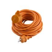 Exin verlengsnoer tuin 2x1mm2 20 meter IP44 oranje