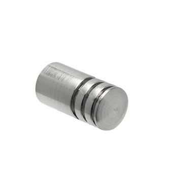 Intensions roede knop cilinder 16 mm RVS 2 stuks