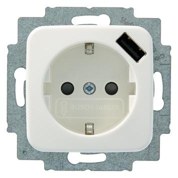 Busch-Jaeger Reflex SI Enkel Stopcontact USB Wit
