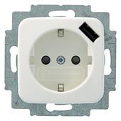 Busch-Jaeger Reflex SI stopcontact met USB wit