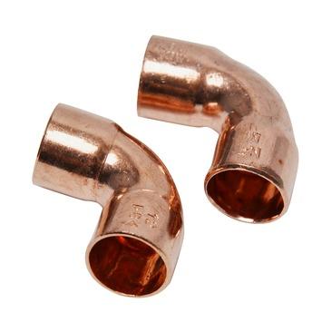 GAMMA soldeerkoppeling roodkoper knie 12x12 mm 2 stuks