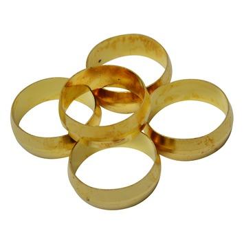GAMMA knelkoppeling messing ring 22 mm 5 stuks