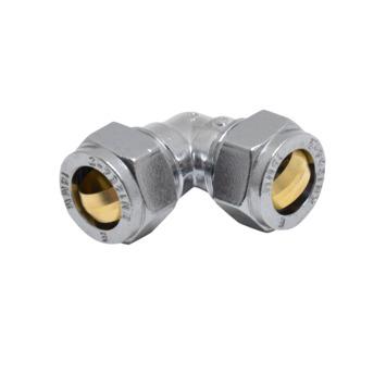 GAMMA knelkoppeling chroom knie 15x15 mm