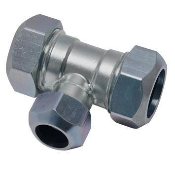 GAMMA CV koppeling T-stuk 22x15x22 mm staal verzinkt