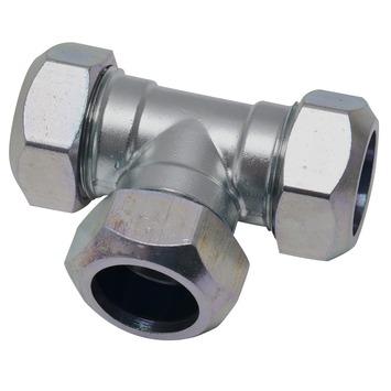 GAMMA CV koppeling T-stuk 22x22x22 mm staal verzinkt