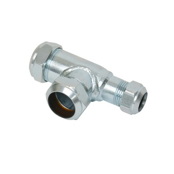 GAMMA CV koppeling T-stuk 22x22x15 mm staal verzinkt