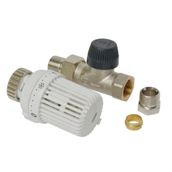 """Honeywell thermostatische radiatorkraan recht wit 1/2""""x15 mm"""