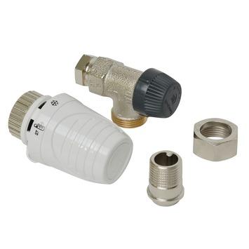 """Honeywell thermostatische radiatorkraan haaks wit 1/2""""x15 mm"""