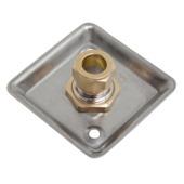 "GAMMA gevelplaat chroom (knel x binnendraad) 15 mm x 1/2"""