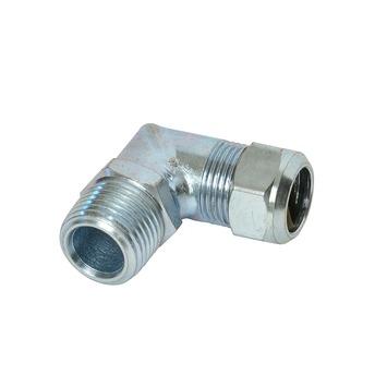 "GAMMA CV koppeling knie (knel x buitendraad) 15 mm x 1/2"" staal verzinkt"