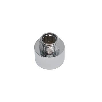 "GAMMA draadkoppeling chroom neusstuk (binnendraad x buitendraad) 1/2""x3/8"""
