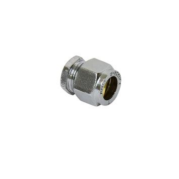 GAMMA knelkoppeling nikkel eindkap 12 mm