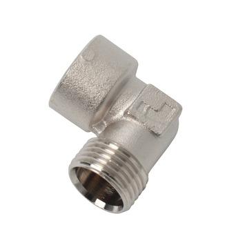 """GAMMA multi-fit koppeling knie (binnendraad x buitendraad) 1/2""""x1/2"""" 2 stuks"""