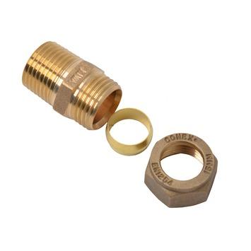 "GAMMA multi-fit knel overgangsstuk 1/2"" BU x 15 mm"