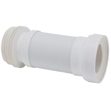 Afvoerbocht flexibel wit 110 mm