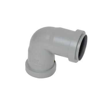 Bocht 90° PPC grijs 40x40 mm