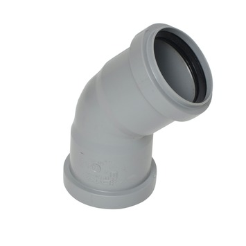 Bocht 45° PPC grijs 50x50 mm