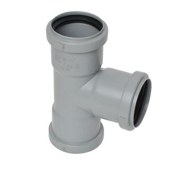 T-stuk PPC grijs 50x50x52 mm