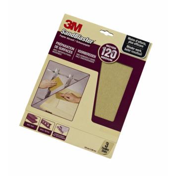3M Sandblaster schuurpapier middel K120 3 stuks