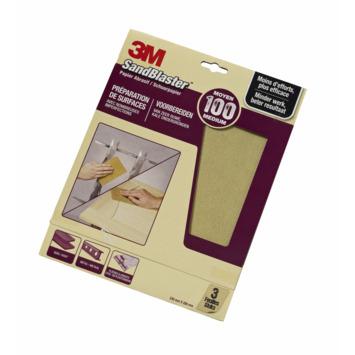 3M Sandblaster schuurpapier middel K100 3 stuks