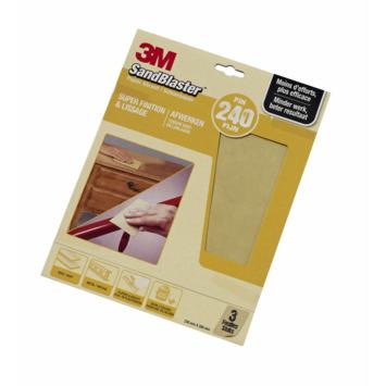 3M Sandblaster schuurpapier fijn K240 3 stuks