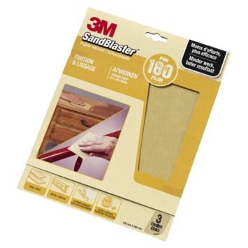 3M Sandblaster schuurpapier fijn K180 3 stuks