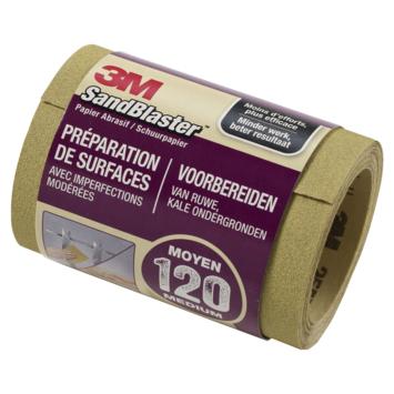 3M Sandblaster schuurpapier op rol middel K120 115 mm 2,5 meter