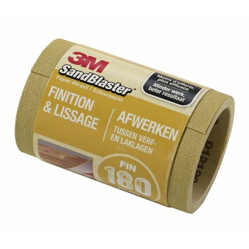 3M Sandblaster schuurpapier op rol fijn K180 115 mm 2,5 meter