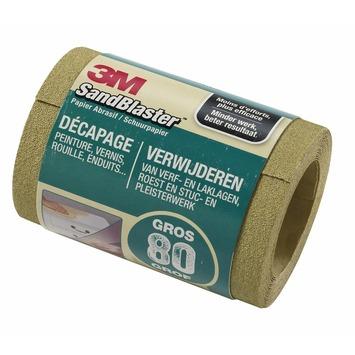 3M Sandblaster schuurpapier op rol grof K80 115 mm 2,5 meter