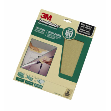 3M Sandblaster schuurpapier grof K80 3 stuks