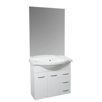 gamma badkamermeubel napels 105cm met spiegel wit kopen