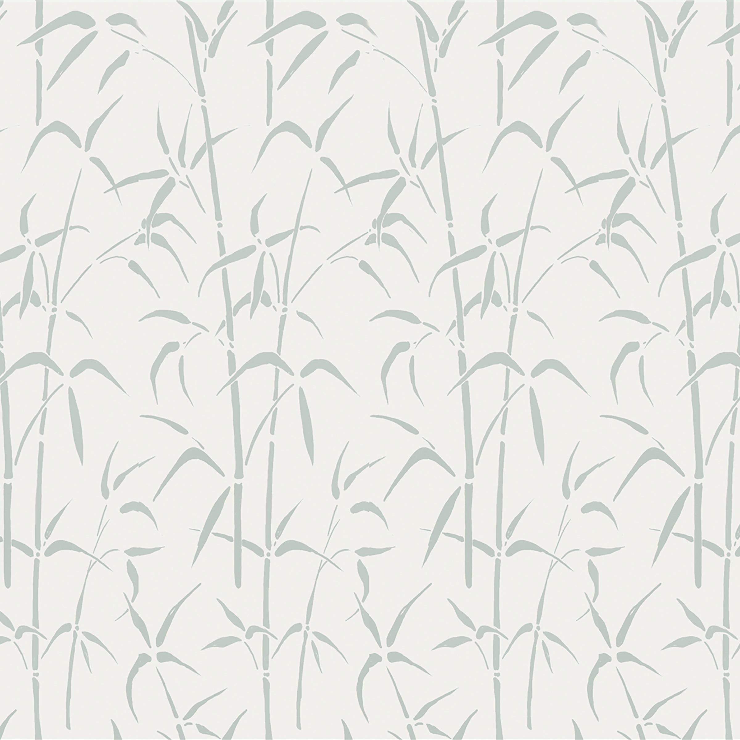 Glasfolie Bamboo wit