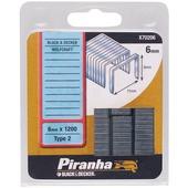 Piranha nieten type 2 6 mm 1200 stuks X70206-QZ
