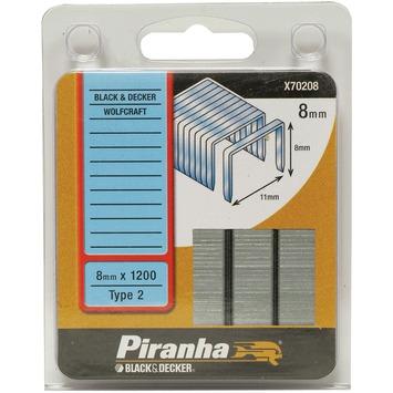 Piranha nieten type 2 8 mm 1200 stuks X70208-QZ