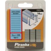 Piranha nieten type 2 14 mm 1200 stuks X70214-QZ