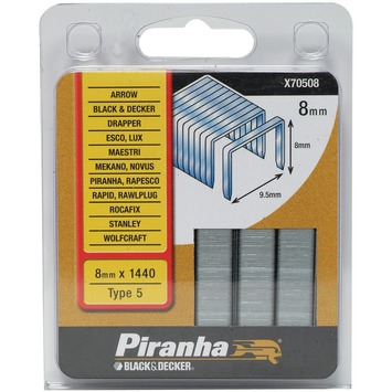 Piranha nieten type 5 8 mm 1440 stuks X70508-QZ