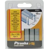 Piranha nieten type 5 12 mm 1440 stuks X70512-QZ