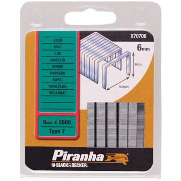 Piranha nieten type 7  hoogte 6mm. X70706-QZ