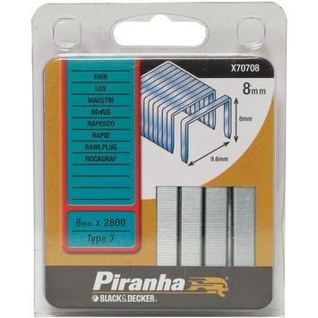 Piranha nieten type 7 hoogte 8mm X70708-QZ