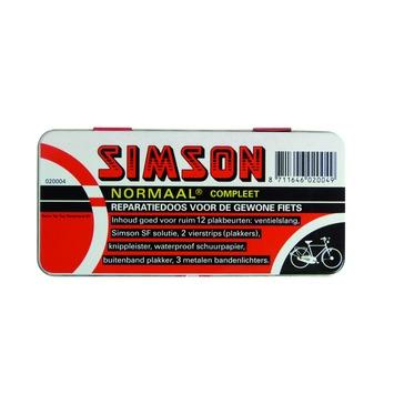 Simson reparatiedoos zwart met rood