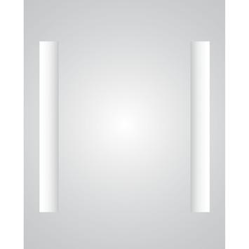 plieger spiegel met verwarming en gentegreerde verlichting 60x80 cm