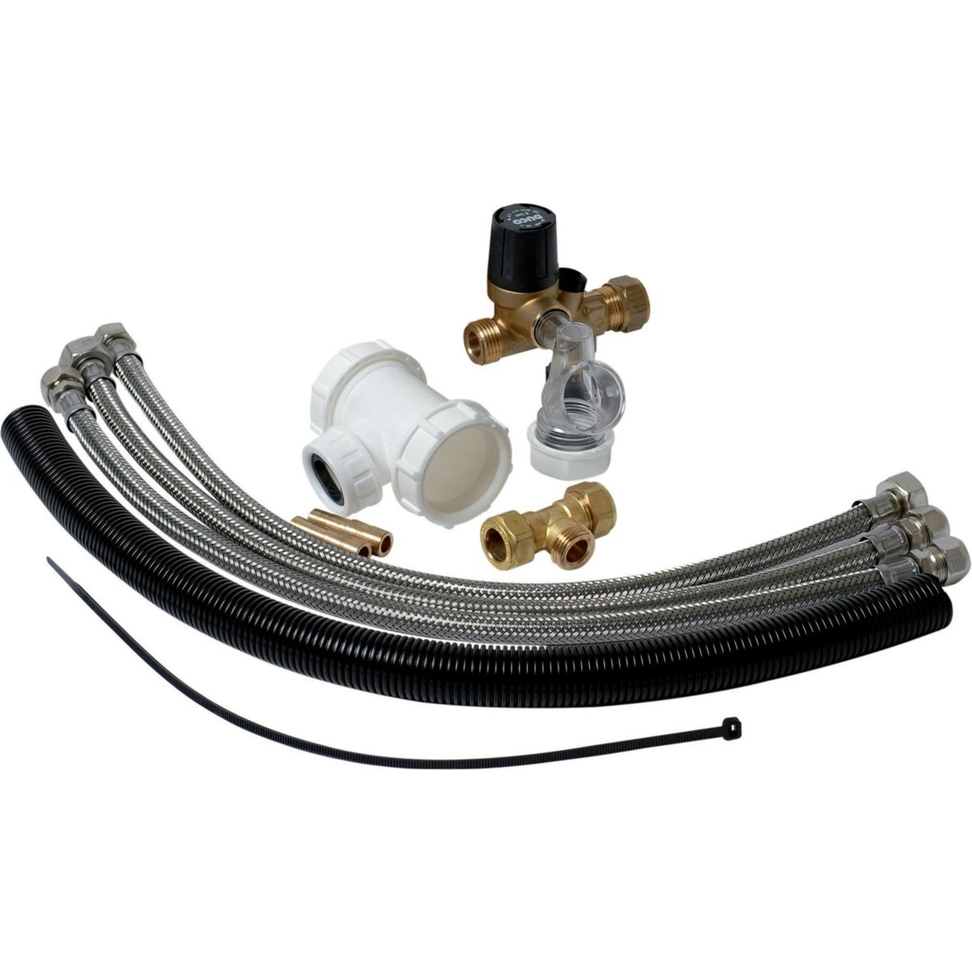 Plieger boileraansluitset tbv. 12 mm aansluiting