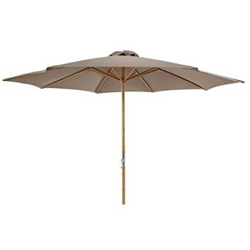 Parasol Jamaica Taupe Hout Ø297 cm
