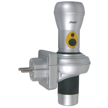 Alecto zaklamp LED oplaadbaar zilver