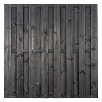 Schutting Jumbo grenen antraciet 180x180 cm