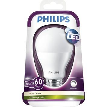 Philips LED lamp E27 60W warm wit dimbaar